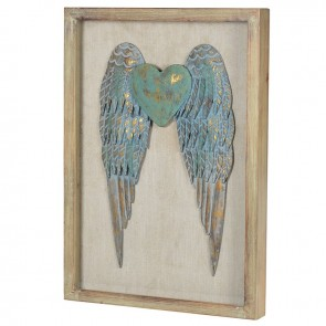 Heart Angel Wings in Frame