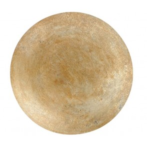 Burnished Gold Abstract Wall Disc Small