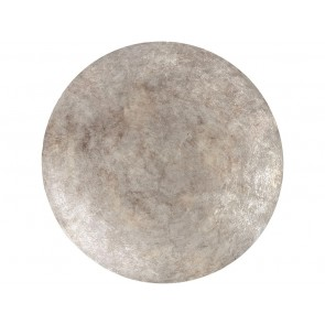 Burnished Silver Abstract Disc Small