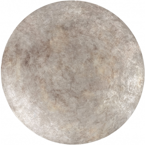 Burnished Silver Abstract Disc Large