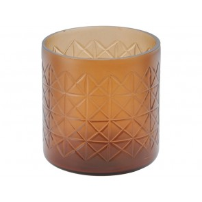 Beaufort Amber Cut Glass Votive