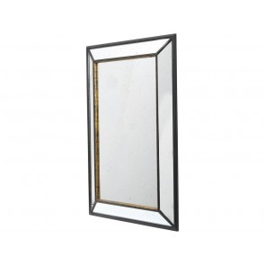 Black Rusty Large Rectangular Mirror