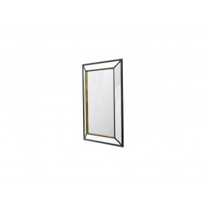 Black Rusty Small Rectangular Mirror