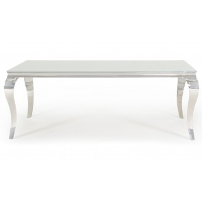 Glamour White 200cm Dining Table