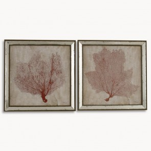 Lexington Coral Wall Art Set of 2