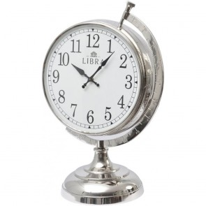 Globe Aluminium Table Clock