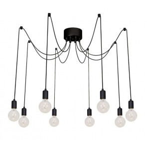 Cluster of 8 Pendant Lights
