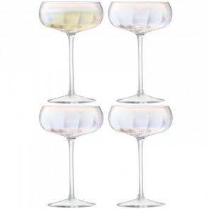 LSA Pearl Champagne Saucer (Set of 4)