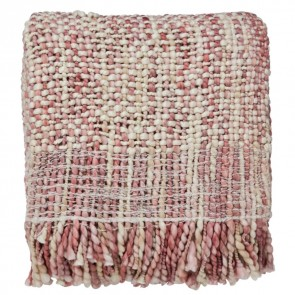 Salice Plum Knitted Throw