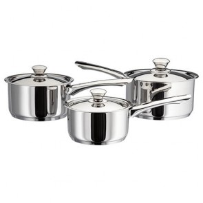 Judge Platina 3 Piece Saucepan Set