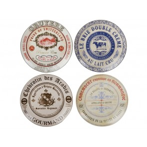 Gourmet Cheese Set of 4 Cheese Plates