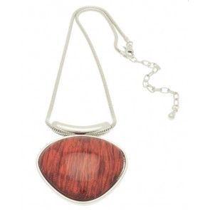 Metallic Red Resin Necklace