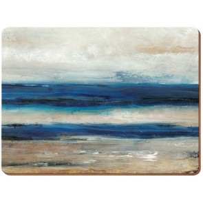 Blue Abstract Placemats Set of 6