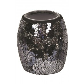 Black & Silver Crackle Electric Burner