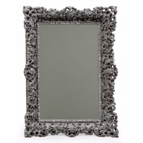 Country Grey Ornate Framed Mirror