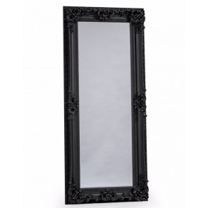 Antique Black Tall Regal Mirror