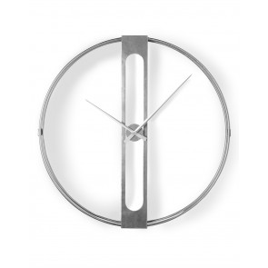 Large Round Silver Frame Clock