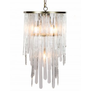 Hammered Glass Ice Shard Chandelier