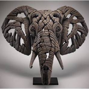 African Elephant Edge Sculpture