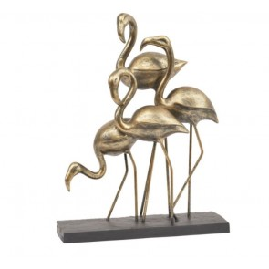 Antique Bronze Group of Flamingos