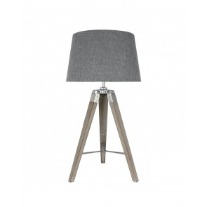 Hollywood Table Lamp with Grey Shade