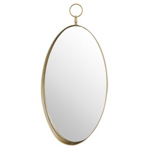 Antique Bronze Oval Mirror