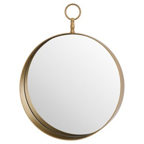 Antique Bronze Circular Mirror