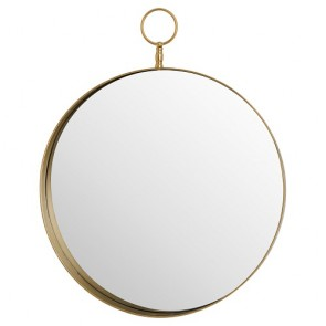 Antique Bronze Large Circular Mirror