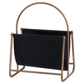 Copper Finish Magazine Rack
