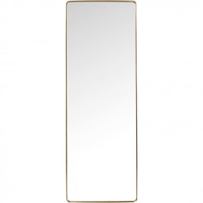 Rectangular Curve Brass Mirror