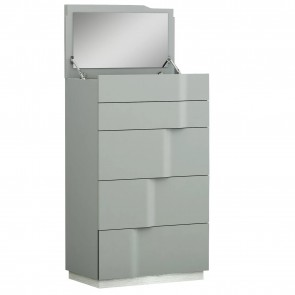 Metro 4 Drawer Chest with Vanity Mirror