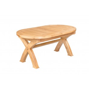 Normandy Oval Extending Cross Leg Table