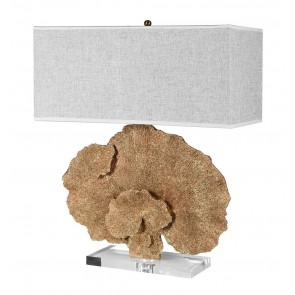Gold Faux Coral Table Lamp