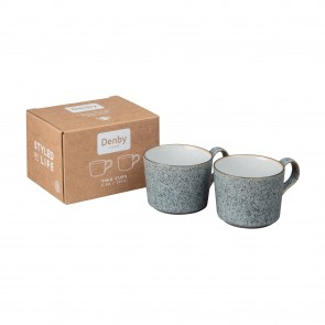 Denby Studio Grey Brew Cups - Set of 2