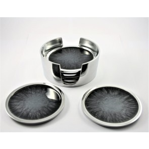 Brushed Black Coasters