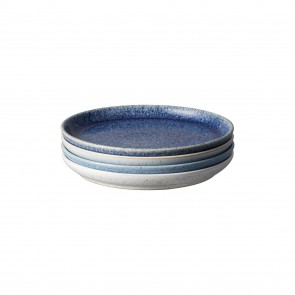 Denby Studio Blue Small Coupe Plate (x4)