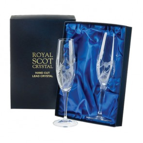 Crystal Champagne Flutes - Set of 2