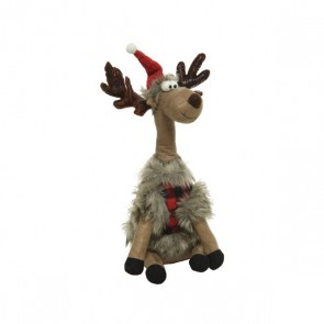 Deer with Coat Doorstop