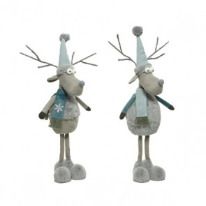 Blue Deer with Coat and Hat - 60cm