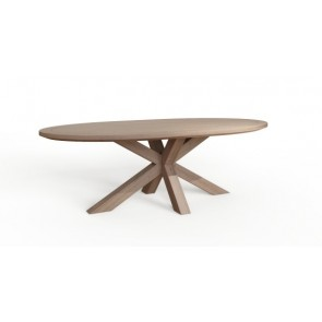 Tambour Grey 1800 Oval Table