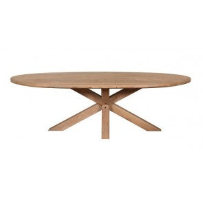 Tambour Grey 2400 Oval Table
