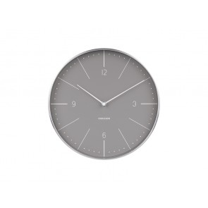 Norman Numbers Grey Wall Clock