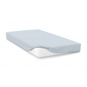 Cotton Polyester Fitted Sheet - Duck Egg