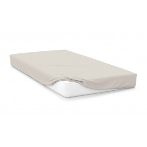 Cotton Polyester Fitted Sheet - Ivory