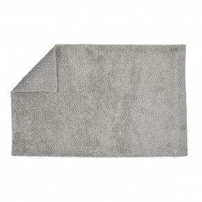 Christy Reversible Bath Rugs - Silver