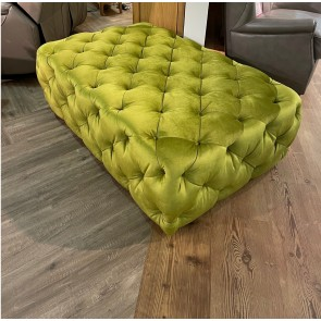 Large Buttoned Stool