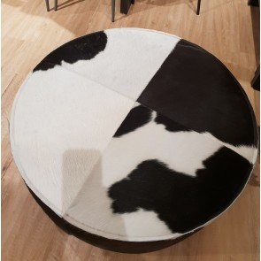 Large Cowhide Round Stool