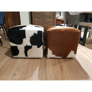 Small Square Cow Hide Stools