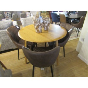 Oslo Dining Set With 4 x Ottowa Chairs