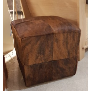 Square Cowskin Stool
